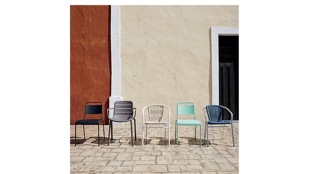 lucinda black stacking chair