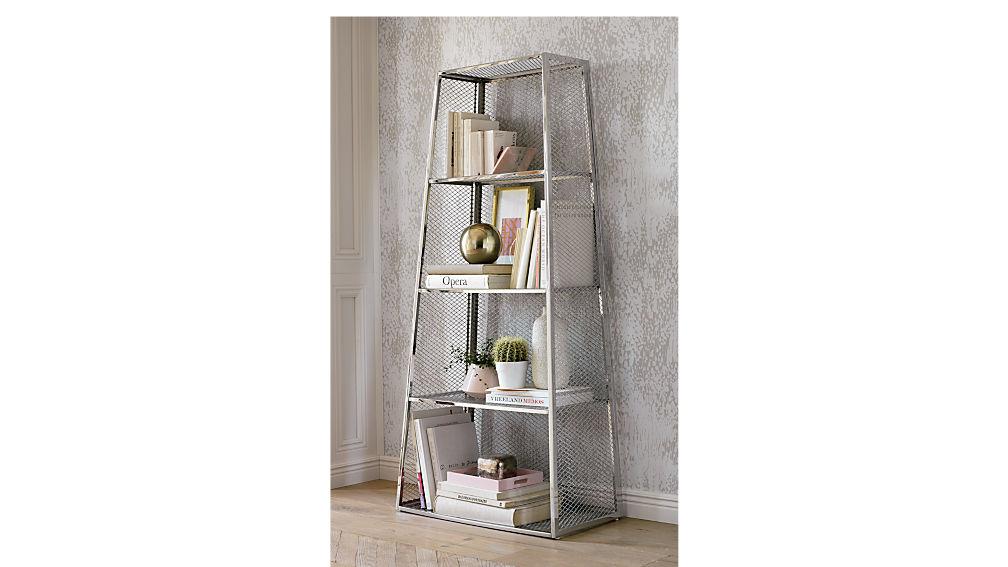 mesh bookcase