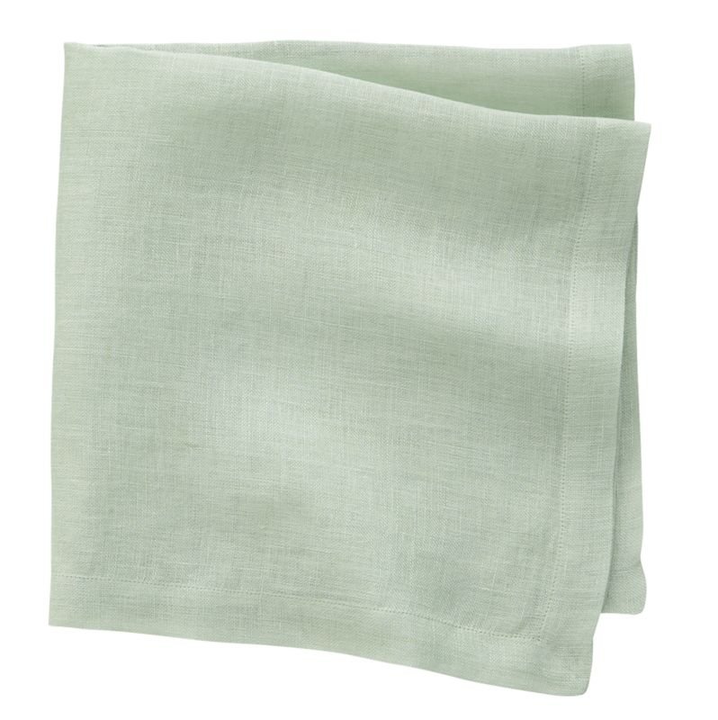 Mind Your Modern Manners With A Clean Mint Linen Napkin.