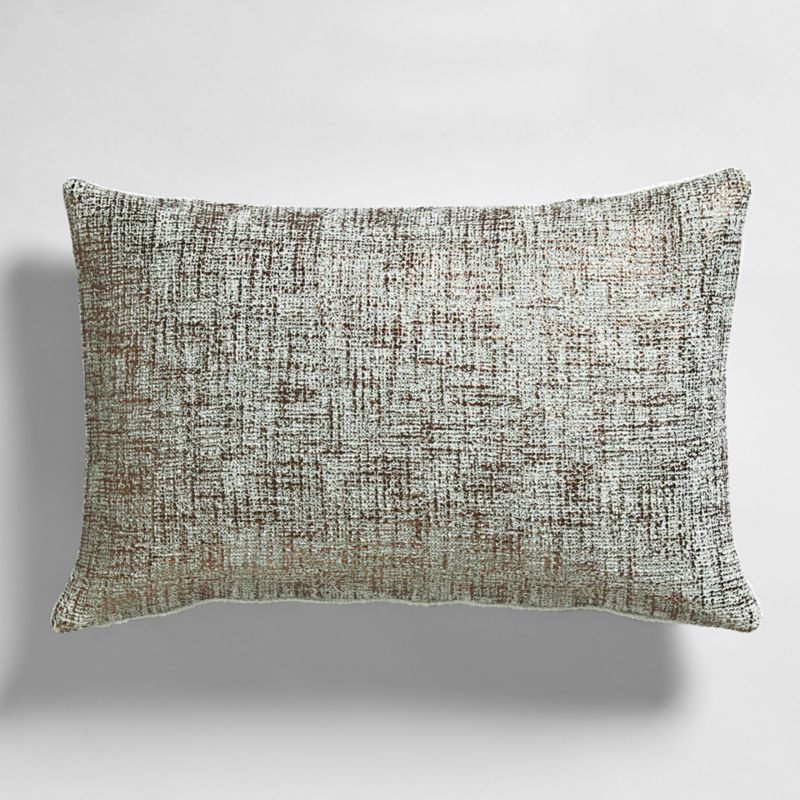 The Mint And White Pattern Of This Ikat Aqua 36u2033x16u2033 Pillow Adds Playful  Graphic Punch To Any Seat.
