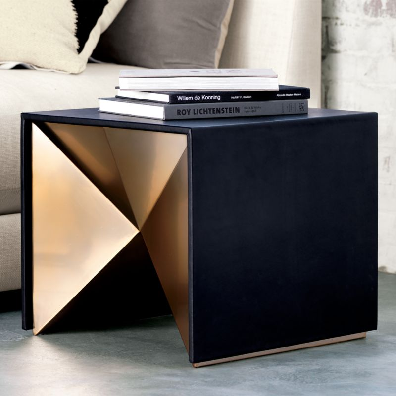 Nova Leather Side Table Reviews Cb2