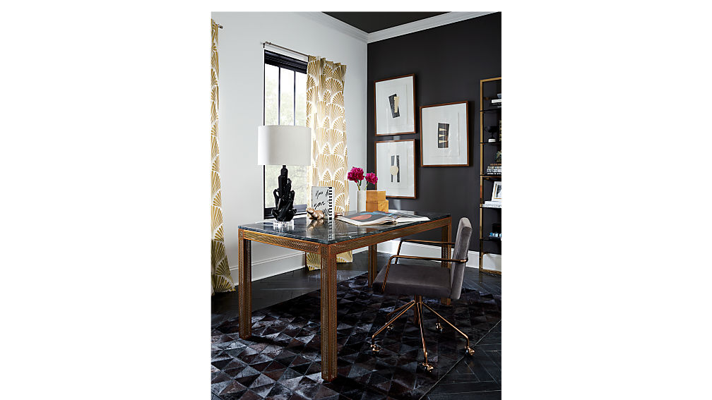 perforated marble desk-table