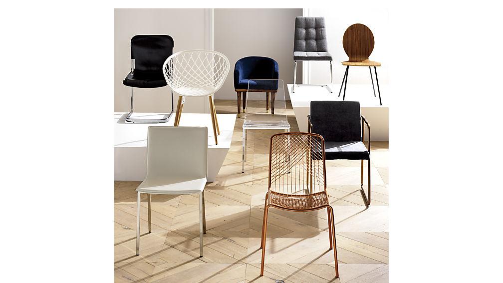 Rouka dark grey dining chair reviews cb2