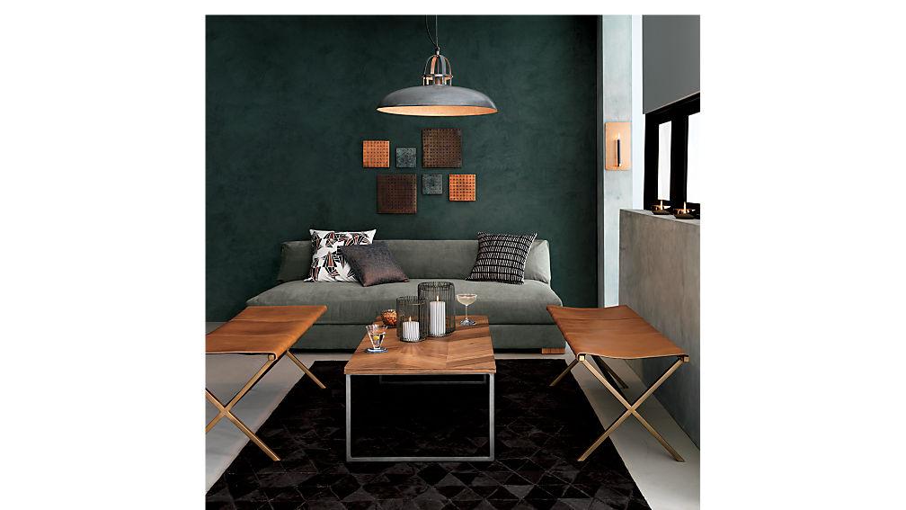 chevron 48" coffee table