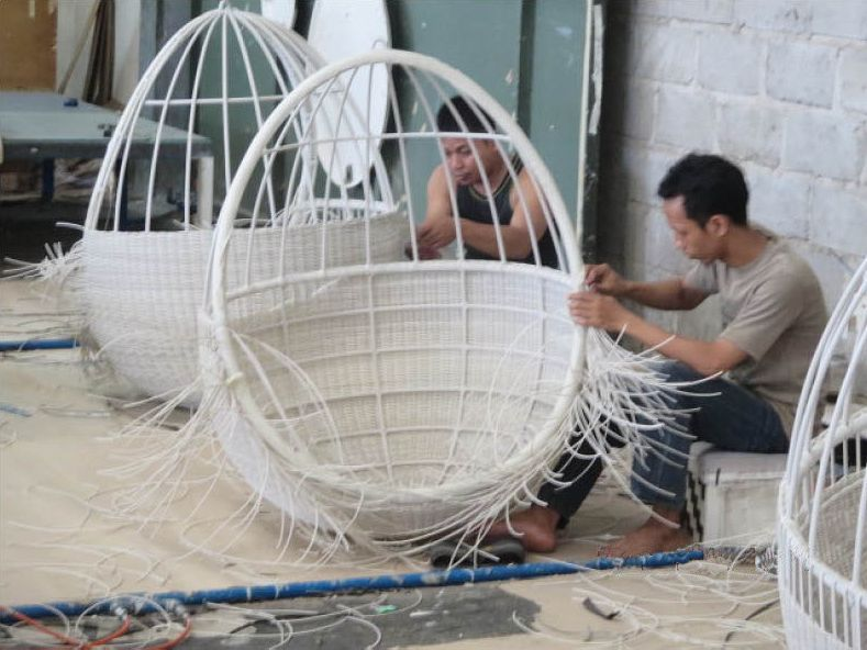 & How Itu0027s Made: Pod Hanging Chair |The CB2 Blog