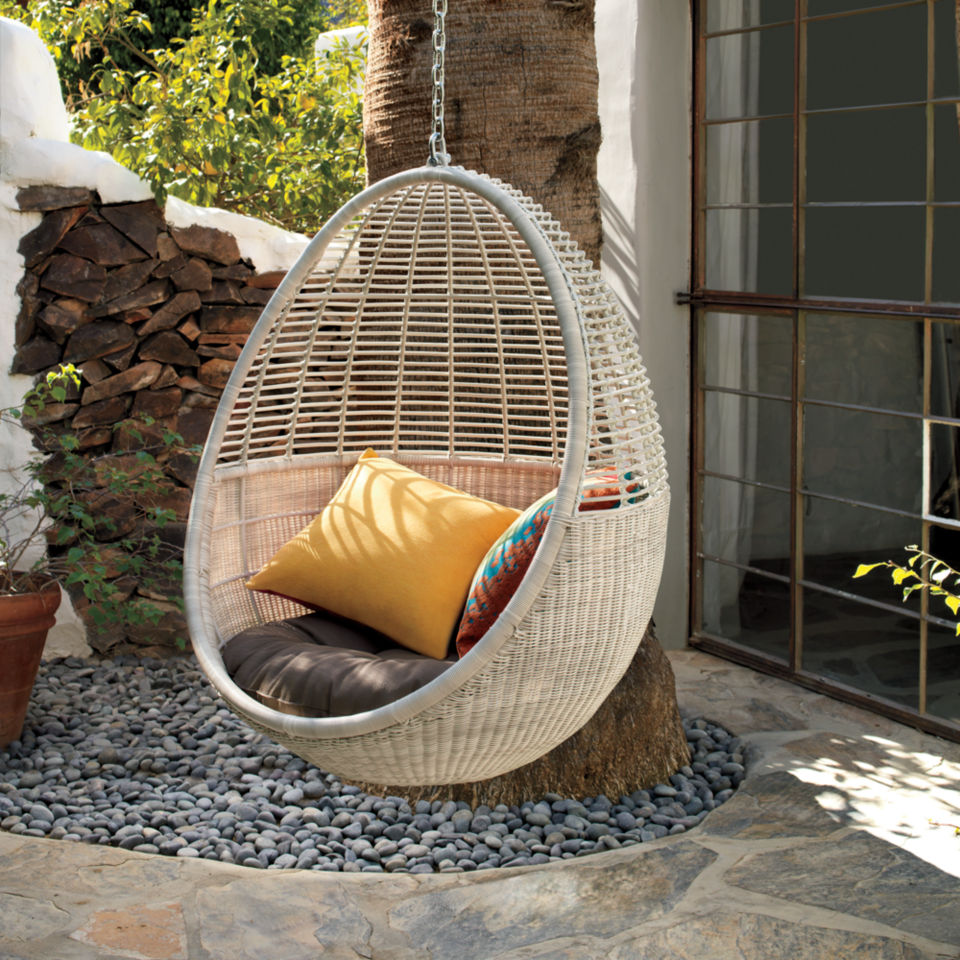 Uncategorized Pod Hanging Chair how its made pod hanging chair the cb2 blog