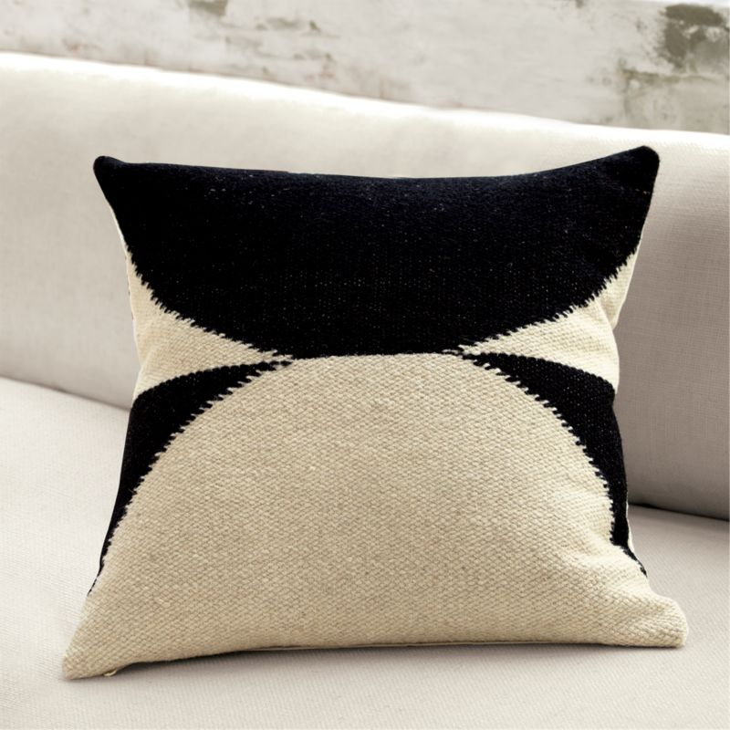 20 Quot Reflect Graphic Throw Pillow Cb2