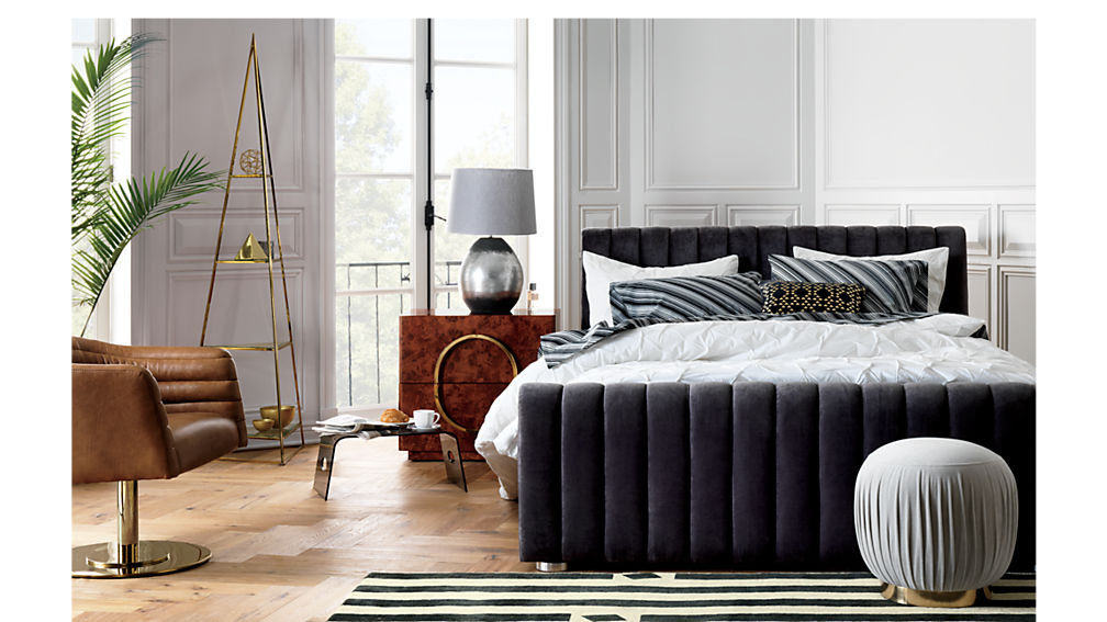 reign velvet king bed