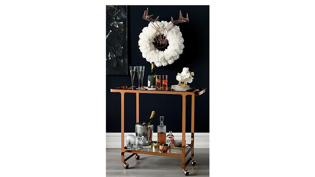 dolce vita copper bar cart