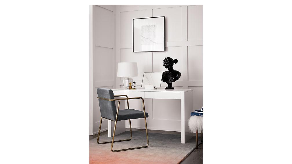 runway white desk