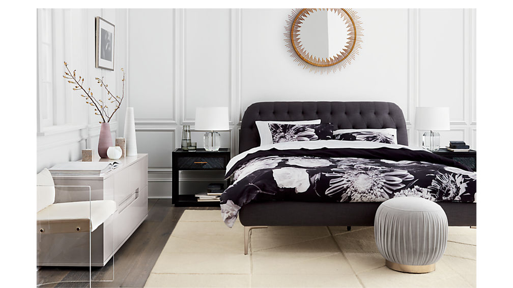 Seraphina Grey King Bed