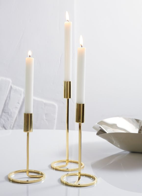 Online Designer Bedroom 3-piece roundabout taper candle holder set