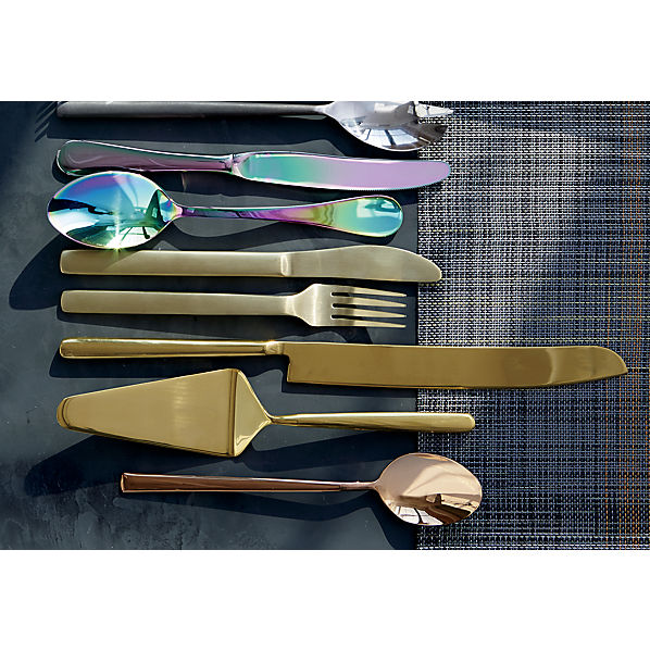 shinycopperflatware2pcgoldJL17