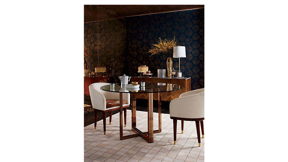 Silverado Brass 47 Quot Round Dining Table Cb2