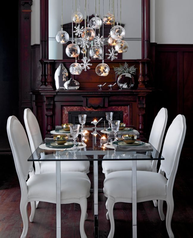 silverado 80 glass and chrome dining table in dining tables