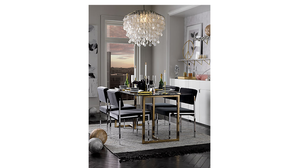 silverado 72 rectangular dining table CB2