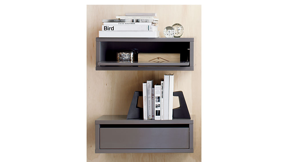 ... Slice Grey Wall Mounted Storage Shelf ...