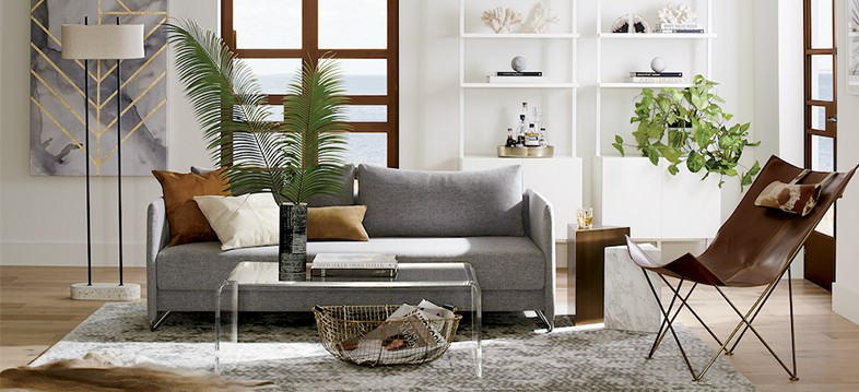 calm and collected neutral living room ideas cb2