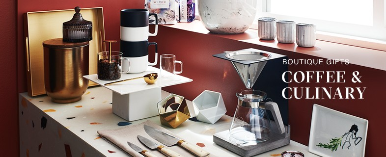 view all holiday gift ideas for coffee and culinary fans.