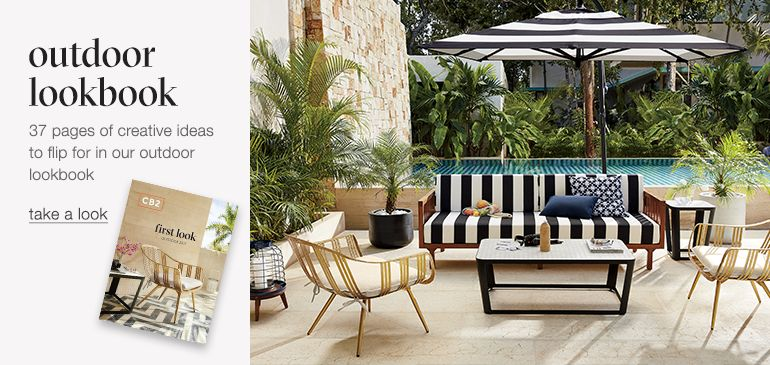 Modern Outdoor Furniture Colorful Outdoor Tables and Chairs CB2