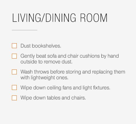 graphic relating to Spring Cleaning Checklist Printable called Spring Cleansing Record Principle Central - CB2 Website