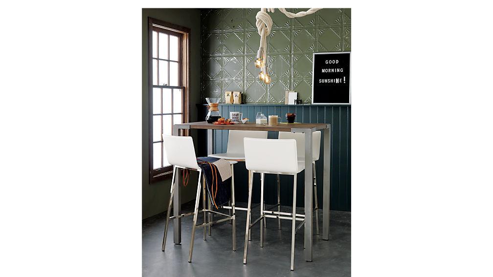 """Stilt 42"""" High Top Breakfast Table   Cb2"""