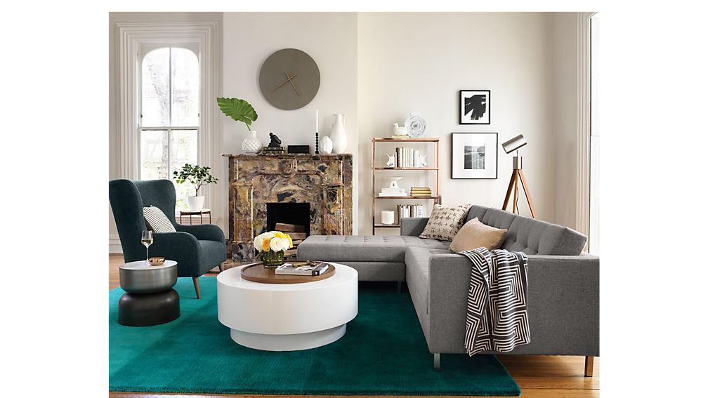 ditto II grey sectional sofa