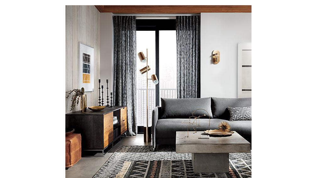 Tandom Dark Grey Sleeper Sofa