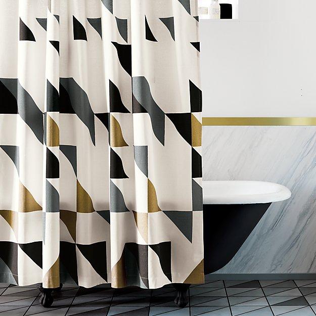 Triangle Shower Curtain Reviews Cb2