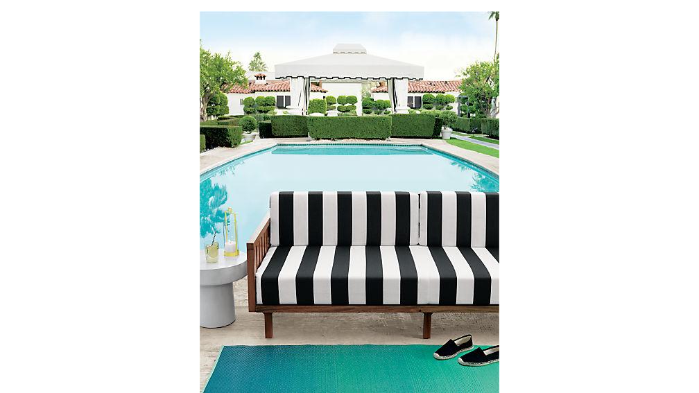 tropez black and white stripe sofa