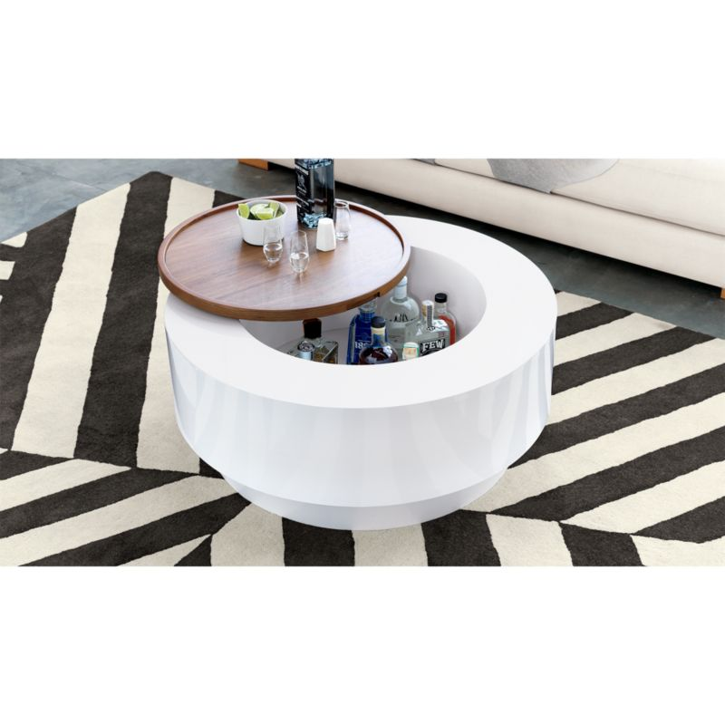 ya ya round storage coffee table CB2